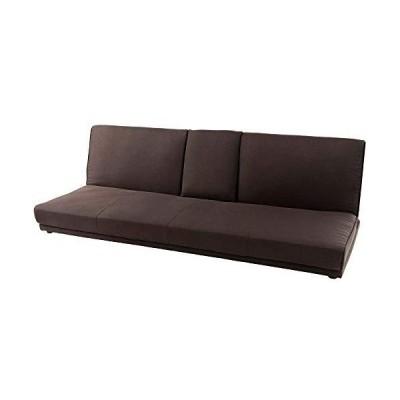 アイリスプラザ ソファベッド ソファ ベッド テーブル付き ロータイプ 3人 リクライニングソファ 背もたれ3段?