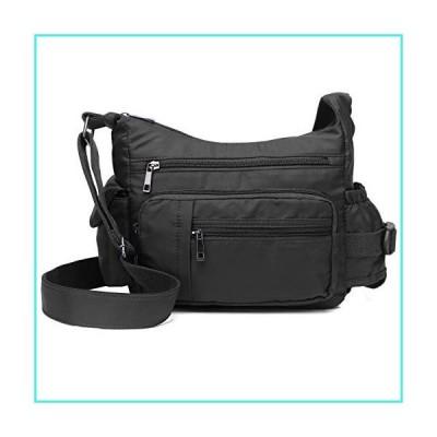 """【新品】Volcanic Rock Shoulder Bags Messenger Handbags Multi Pocket Waterproof Crossbody Bags(Black-9.8"""")(並行輸入品)"""
