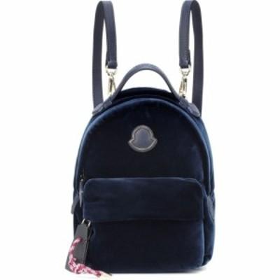 モンクレール Moncler レディース バックパック・リュック バッグ leather-trimmed velvet backpack