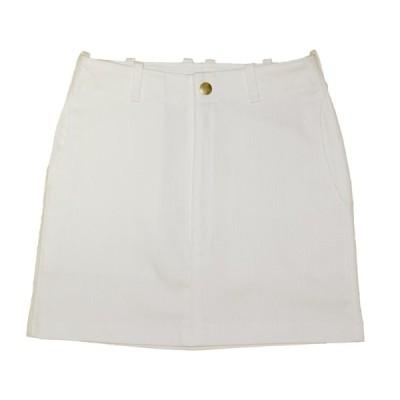 White Stretch Denim Skirt 73