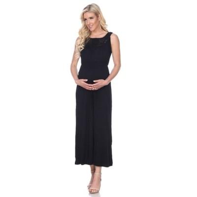 ホワイトマーク ワンピース トップス レディース Maternity Kadyn Maxi Dress Black