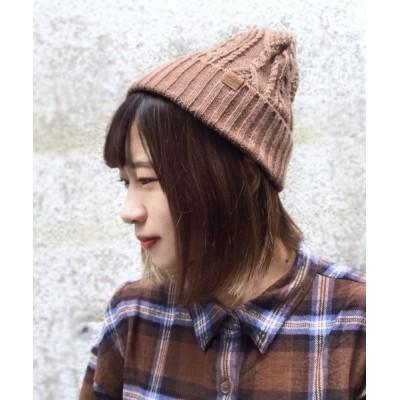polcadot / 薄手ケーブル編みニットワッチ WOMEN 帽子 > ニットキャップ/ビーニー