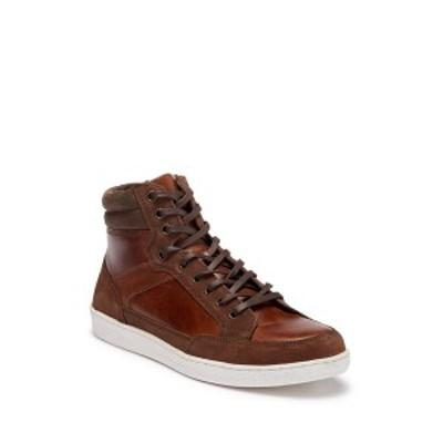 クレボ メンズ スニーカー シューズ Seiler High-Top Leather Sneaker CHESTNUT