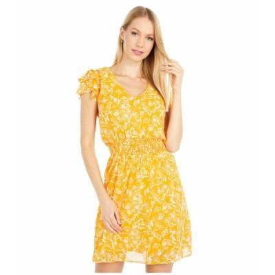 ボベー ワンピース トップス レディース Woven Dress Gold Floral