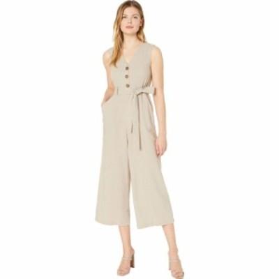 カルバンクライン Calvin Klein レディース オールインワン ジャンプスーツ ワンピース・ドレス Belted Button Front Bodice Jumpsuit Kh