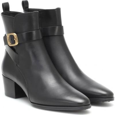 トッズ Tod's レディース ブーツ ショートブーツ シューズ・靴 leather ankle boots Black
