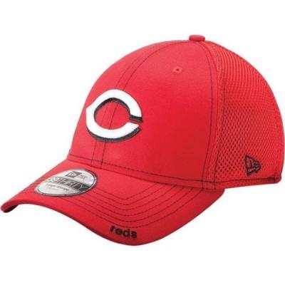 ニューエラ メンズ 帽子 アクセサリー New Era Men's Cincinnati Reds 39Thirty Neo Red Stretch Fit Hat