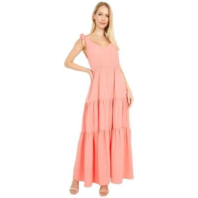 アメリカンローズ レディース ワンピース トップス Sonia Ruffle Maxi Dress with Shoulder Ties