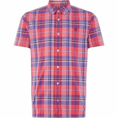 クルークロッシングカンパニー Crew Clothing Company メンズ シャツ トップス Madras Ss Shirt Pink Multi