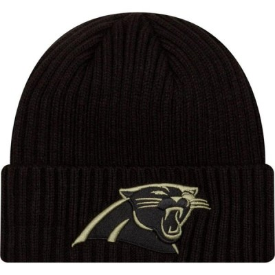 ニューエラ New Era メンズ ニット 帽子 Salute to Service Carolina Panthers Black Knit Hat