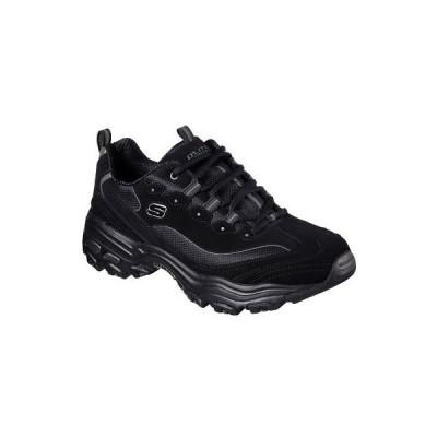 スニーカー スケッチャーズ Skechers Men's D'Lites Low Top Sneaker Shoes Black Active Sports Footwear