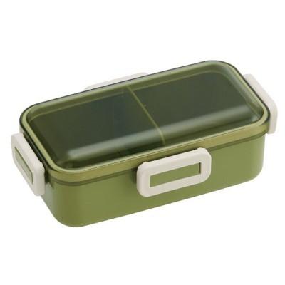 お弁当箱 2段 シリコン製シールブタ ランチボックス レトロフレンチカラー 630ml グリーン PFLB6 【代引不可】 [01]