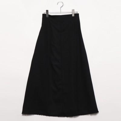 スタイルブロック STYLEBLOCK リネンタッチロングスカート (ブラック)