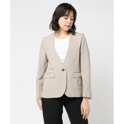 ジャケット テーラードジャケット High dense linen l/s jacket