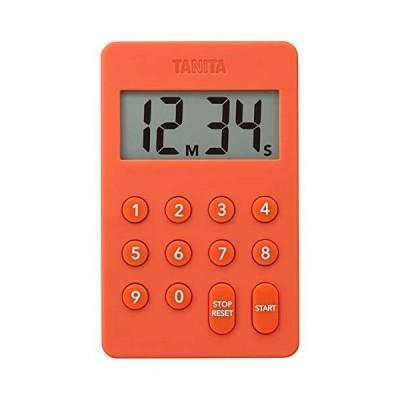 タニタ キッチン タイマー マグネット付き デジタルタイマー 100分計 オレンジ TD-415 OR
