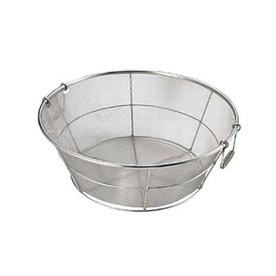 ストック 仕込み 厨房用品 / 18-8平揚げザル 荒目 60cm 寸法: φ600 x H220mm