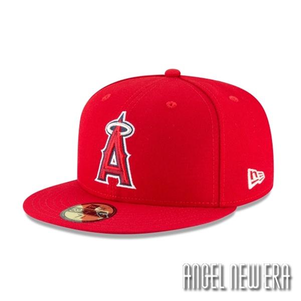 【New Era】MLB 洛杉磯 天使 球員比賽用帽 活力紅 59FIFTY 大谷翔平【ANGEL NEW ERA】