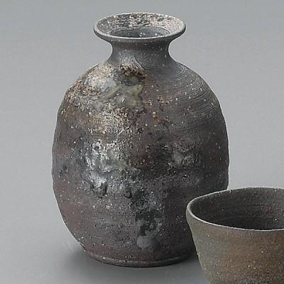 業務用食器 炭化窯変徳利(信楽焼) 8.5×11cm・290cc 日本酒・焼酎グラス