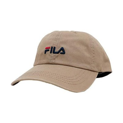 [フィラ]FILA キャップ ベーシック コットンツイル ロゴ刺繍 洗濯機洗い可能 ベージュ