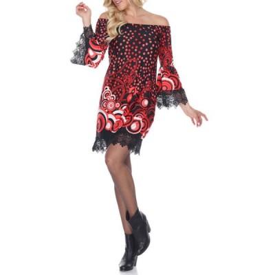 ホワイトマーク レディース ワンピース トップス Lenora Lace Trim Dress