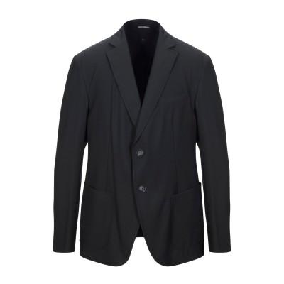 エンポリオ アルマーニ EMPORIO ARMANI テーラードジャケット ブラック 52 ポリエステル 67% / レーヨン 29% / ポリウレ