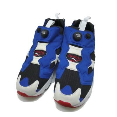 Reebok INSTA PUMPFURY ハイカットスニーカー ブルー サイズ:27cm (堅田店) 201122