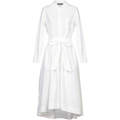 ANTONELLI 7分丈ワンピース・ドレス ホワイト 44 コットン 100% 7分丈ワンピース・ドレス
