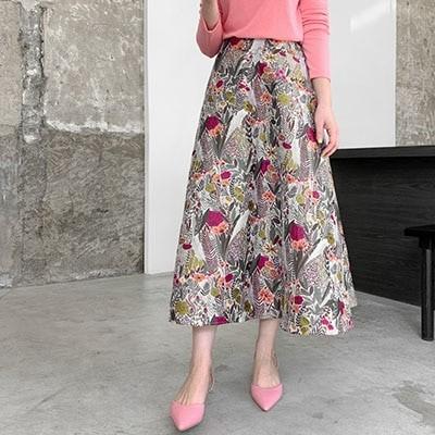 [COCOBLACK] 珍しいスタイルでお勧めする高級で優雅なジャカード生地スカート:)