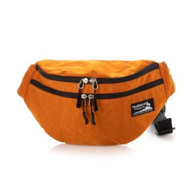 ヘルスニットプロダクト Healthknit product 撥水シワナイロンウエストバッグ (ダークオレンジ)