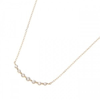 ココシュニック(COCOSHNIK)/K18ダイヤモンド グラデーション7石 ネックレス