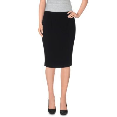BOUTIQUE MOSCHINO ひざ丈スカート ブラック 44 トリアセテート 70% / ポリエステル 30% ひざ丈スカート