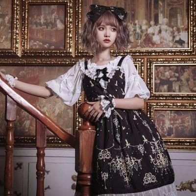 ロリータ ワンピース ゴスロリ メイド 黒 ワンピース ゴシック コスプレ パーティードレス コスチューム 衣装 パニエ 髪飾り 上着追加可