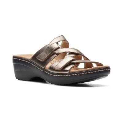 クラークス サンダル シューズ レディース Women's Merliah Karli Slip-On Strappy Sandals Metallic