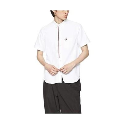 [フレッドペリー] 半袖シャツ Front Tape B/D S/S Shirt F4507 メンズ 10WHITE UK S (日本サイズM相当)