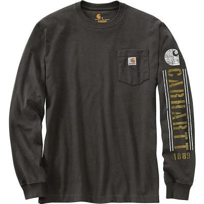 (取寄)カーハート メンズ オリジナル フィット ヘビーウェイト ロングスリーブ ポケット ロゴ グラフィック Tシャツ Carhartt Men's Original Fit Hea 送料無料