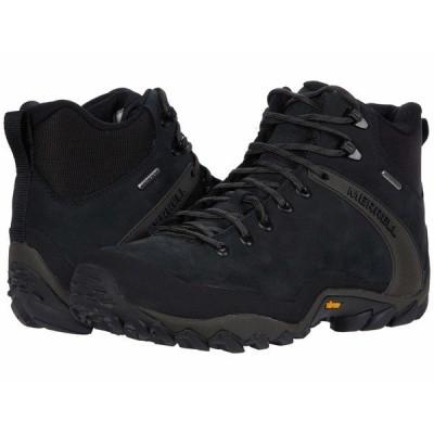 メレル ブーツ&レインブーツ シューズ メンズ Chameleon 8 Leather Mid Waterproof Black