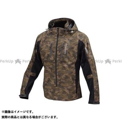 【無料雑誌付き】コミネ JK-112 プロテクトハーフメッシュパーカ-ゲンリ カラー:カモ/ブラック サイズ:L KOMINE