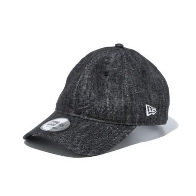 帽子 キャップ ニューエラ キャップ 9THIRTY LINEN DENIM ブラック NEW ERA