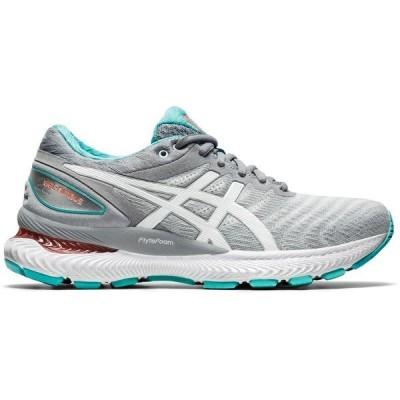 アシックス シューズ レディース ランニング ASICS Women's Gel-Nimbus 22 Running Shoes Sheet Rock/White
