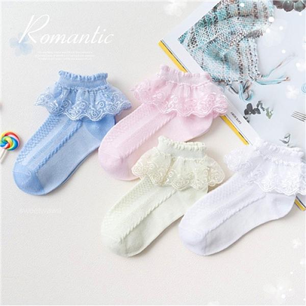 【封館5折】熱賣款~日系蕾絲花邊網眼公主短襪-4色~搭洋裝禮服推薦(P12131)