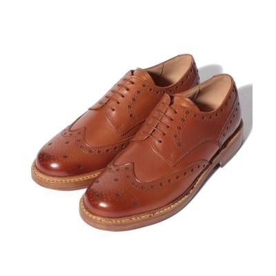 【コカ(シューズ)】 London Shoe Make グッドイヤーウェルト製法 外羽根 ウィングチップ レディース タン UK7.5:26.0cm coca