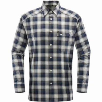 ホグロフス シャツ Tarn Flannell Shirts Magnetite/Cobalt Blue