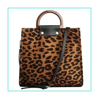 【新品】Crossbody Bag for Women Large Capacity Soft Canvas Leopard Pattern Top Handle Tote Shoulder Satchel Bag Handbags Clutch Purses (Brown)(