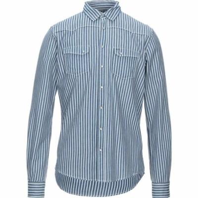 サン シックスティーエイト SUN 68 メンズ シャツ トップス striped shirt Dark blue