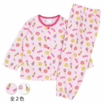 長袖パジャマ 女の子 キッズ スイーツピンク-ピンク