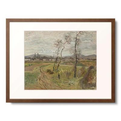 クロード・モネ Claude Monet 「Gennevilliers Plain (La Plaine de Gennevilliers). 1877 19 5/8 x 24in」