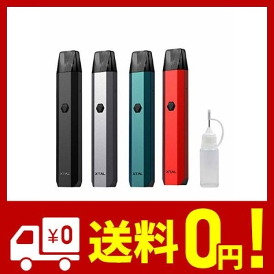 ZQ Xtal Pod kit 電子タバコ スターターキットエクスタル ニードルボトル 10ml付 ((1) Black)