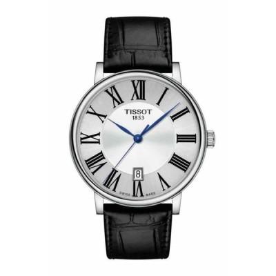 ティソ 腕時計 Tissot CARSON PREMIUM White ホワイト Dial LTHR Band メンズ Watch T122.410.16.033.00