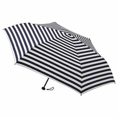 [ムーンバット] フロータス【FLO(A) TUS】 超撥水・スリム・軽量・折りたたみ傘(手開き)・UV ボーダー柄 31-007-20018-02 レディース