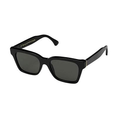 Sunglasses Super by Retrosuperfuture America Black 5W5 Regular R 52 18 145 NEW 並行輸入品